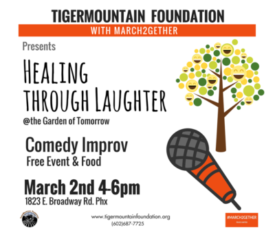 Healing Through Laughter event at the Garden Tomorrow | TigerMountain Foundation